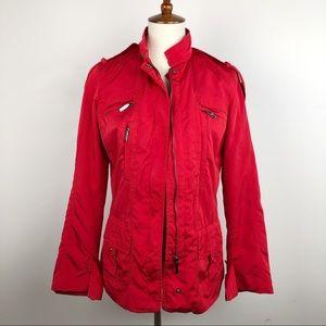 5ab91ad1 Zara Jackets & Coats - Zara Red Full Zip Utility Military Jacket ...